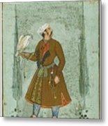 A Portrait Of A Nobleman Holding A Falcon Metal Print