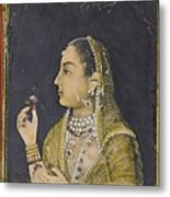 A Portrait Of Jahanara Begum Metal Print