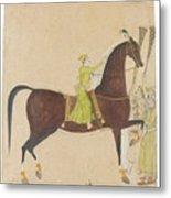 A Portrait Of The Royal Stallion Metal Print