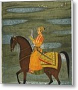 A Prince Riding In A Landscape Metal Print
