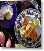 A Provence Luncheon Metal Print