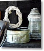 A Pulley And A Lamp Metal Print