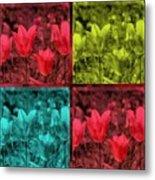 A Quadruple Of Tulips Metal Print