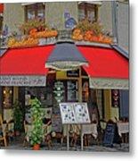 A Quaint Restaurant In Paris, France Metal Print