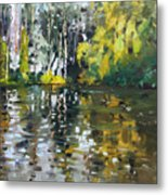 A Quiet Afternoon Reflection Metal Print