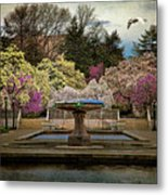 A Rainy Day In Magnolia Season Metal Print