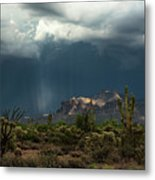 A Rainy Evening In The Superstitions  Metal Print