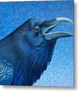 A Raven's Prayer Metal Print