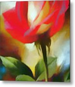 A Red Rose For Amelia Metal Print