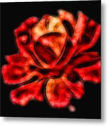 A Red Rose For You 2 Metal Print by Mariola Bitner