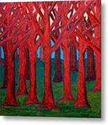 A Red Wood - Sold Metal Print