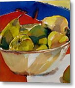 A Reflection On Pears Metal Print