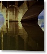 A Reflective Moment In Lyon Metal Print