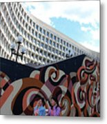 A Mural At L'enfant Plaza Metal Print