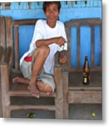 A Rest And A Beer Metal Print