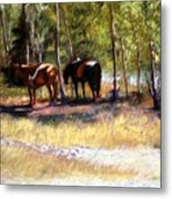 A Rest By The River Metal Print