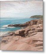 A Coastal Scene Metal Print