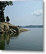 A Rocky Point - Monroe Lake Metal Print