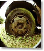 A Rolling Tire Gathers No Moss Metal Print