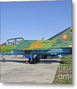 A Romanian Air Force Mig-21b Airplane Metal Print