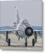 A Romanian Air Force Mig-21c Taxiing Metal Print