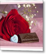 A Rose For Valentine's Day Metal Print