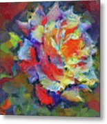 A Rose Impression Metal Print