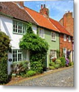 A Row Of Cottages Metal Print