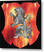 a Royal Crest Metal Print