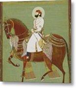 A Ruler On Horseback Metal Print