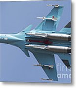 A Russian Air Force Su-34 In Flight Metal Print