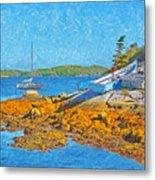 A Sailboat Near Halifax Nova Scotia Metal Print