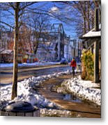 A Sandpoint Winter Metal Print
