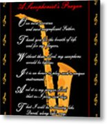 A Saxophonists Prayer_1 Metal Print by Joe Greenidge