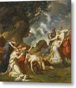 A Scene From Classical Mythology Metal Print