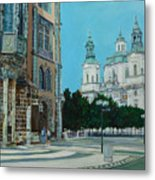 A Scene In Prague Metal Print