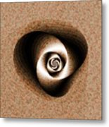 a Sculpt Rose Metal Print