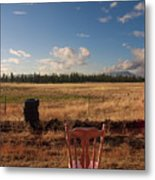 A Seat With A View Metal Print