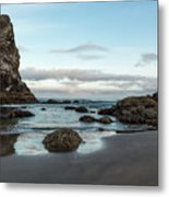 A Serene Morning At Cannon Beach Metal Print