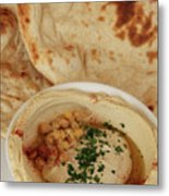 A Serving Of Humus Metal Print