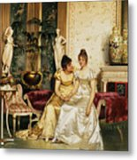A Shared Confidence Metal Print by Joseph Frederick Charles Soulacroix