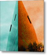 A Sharp Edge 2 And 3 - Summer And Autumn Metal Print
