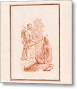 A Shepherdess And A Fishseller Metal Print