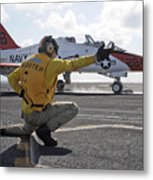 A Shooter Launches A T-45 Goshawk Metal Print