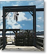 A Short Pier In Portsmouth Nh Metal Print