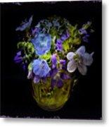 A Shot Of Springtime Wildflowers Metal Print