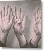 A Show Of Hands Day 197 Metal Print