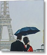 A Shower At The Trocadero Metal Print