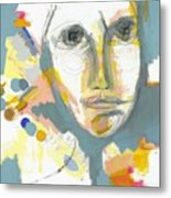 A Shrewd Woman Metal Print