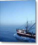 A Shrimp Boat In The Gulf Of Mexico Metal Print